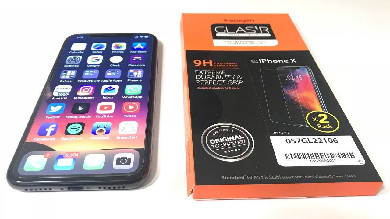 detailed look fa97f fc88e iPhone X Spigen Glass Screen Protector