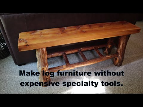 Making Gorgeous Log Furniture WITHOUT Expensive Tenon & Mortise Specialty Tools!