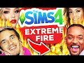 🔥 Burning Celebrities in The Sims 4... 🔥😱