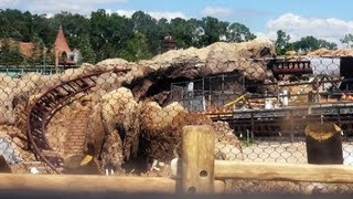 Snow White Seven Dwarfs MINE TRAIN COASTER Ride UPDATE 10/4/13 CONSTRUCTION - Disney World