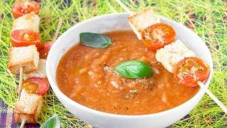 Суп пюре из кабачков и помидоров