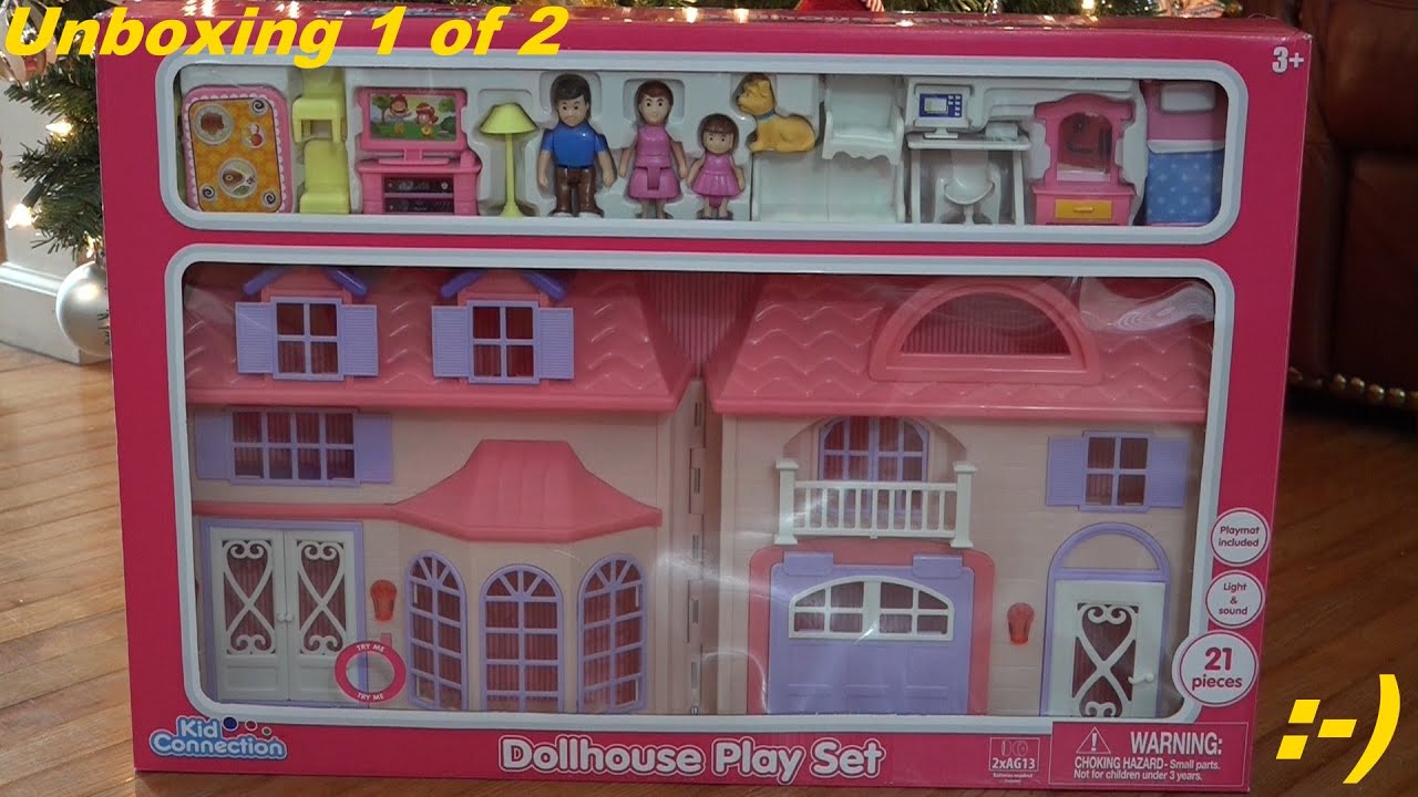 Toys For Girls Kid Connection Dollhouse Playset Unboxing