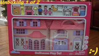 Toys For Girls: Kid Connection Dollhouse Playset Unboxing With Maya 1 Of 2