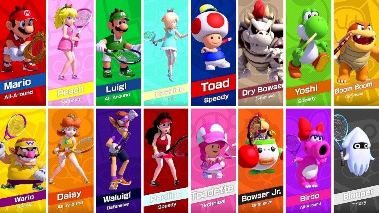 Mario Tennis Aces All Characters Youtube