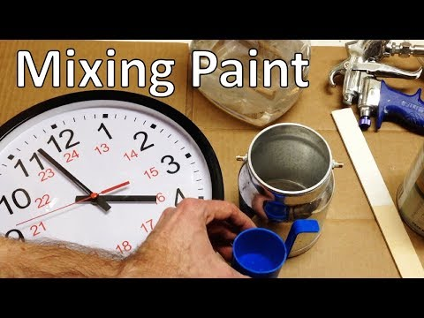 How to Mix Paint for a Spray Gun
