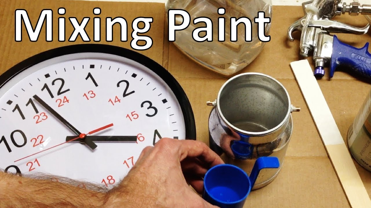 How to make paint thinner for spray gun