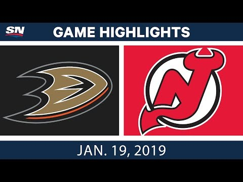 NHL Highlights | Ducks vs. Devils - Jan. 19, 2019