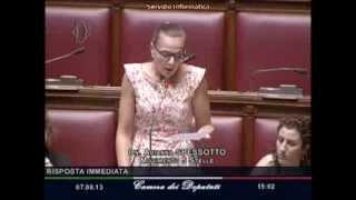 7/8/2013 Arianna Spessotto: al ministro degli affari europei sul caso dell