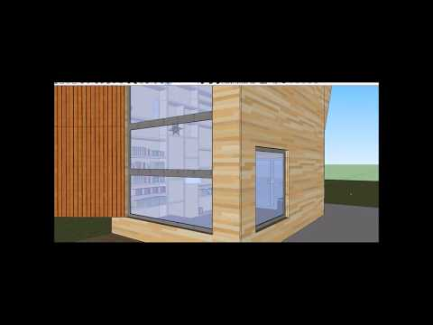Tiny cube house - Zu Hause Double Cube - Inspiration Google SketchUp Model @ideasyplanos