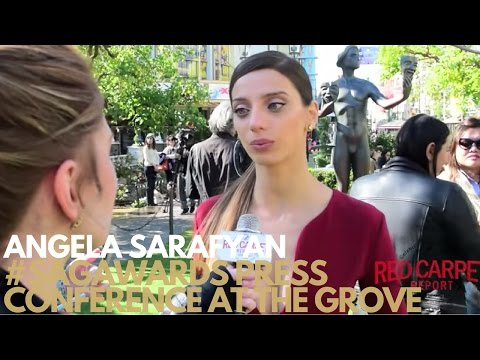 Angela Sarafyan ed at 23rd SAG Awards® Press conference with The Actor® statue at the Grove