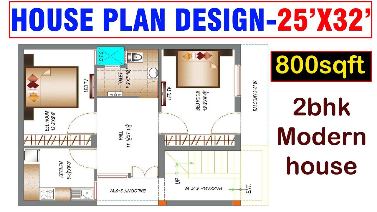 20x40 House Plans With 2 Bedrooms North Home Design