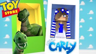 Minecraft TOYSTORE: MEET THE NEWEST TOY w/Little Carly, Little Kelly, Tiny Turtle and Sharky.