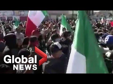 LIVE: Tijuana protest against migrant Caravan