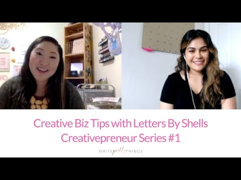 Creativepreneur Interview With Letters By Shells | Creative Biz Tips