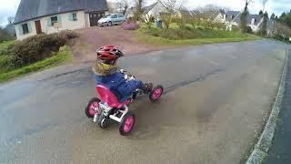 teste moteur de hoverboard sur kart a pédale