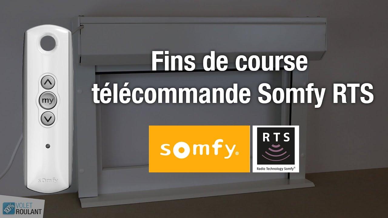 Reglage Fins De Course Moteur Somfy Rts Avec Telecommande 100