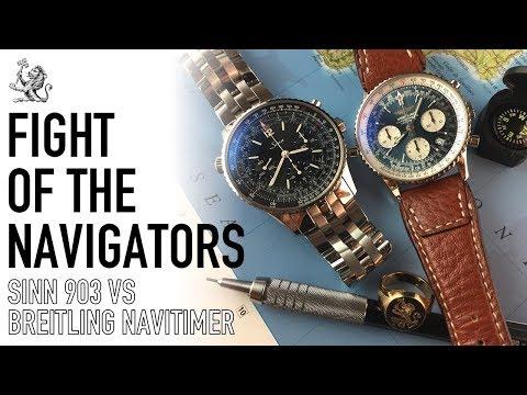 Battle Of The Best Navigators Chronograph - Breitling Navitimer A23322 Vs Sinn 903 St Watch Duel