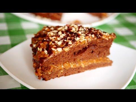 Самый простой РЕЦЕПТ торта СНИКЕРС. Сочный и вкусный