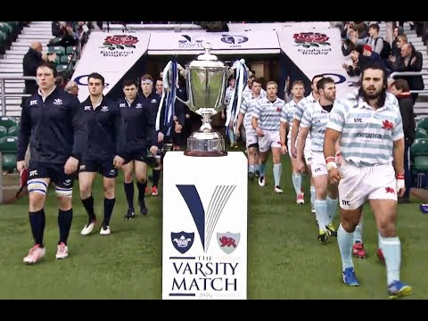 2016 Highlights Rugby Men's Varsity Match Oxford Uni v Cambridge Uni - Battle of the Blues