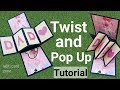 How to make twist and pop up card | Handmade birthday card tutorial | Father's day gift idea |