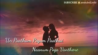 Gambar cover Un patham pogum pathai 💕shenbagame female version wats app status 💕lyrics💕modern cover song💕