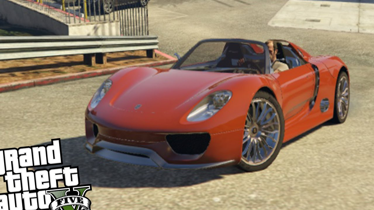 gta 5 porsche 918 spyder crash testing youtube. Black Bedroom Furniture Sets. Home Design Ideas