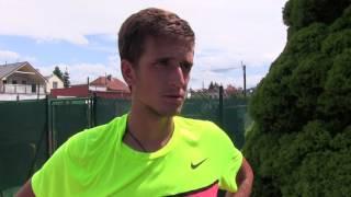 Vít Kopřiva po prohře v semifinále na turnaji Futures v Ústí n. O.