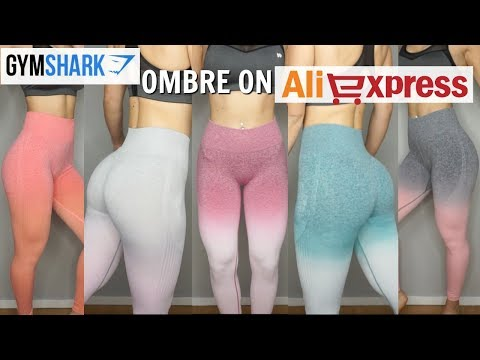 73271febeaefc 17$ GYMSHARK Seamless Ombre on ALIEXPRESS | Trying all colors and size S-L  - YouTube