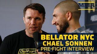 Chael Sonnen Reacts to Wanderlei Silva Pushing Him at Presser - MMA Fighting thumbnail