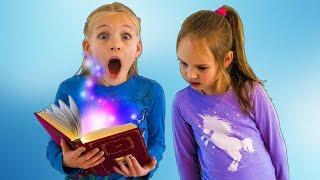 Amelia and Avelina, magic book adventure with lots of magic tricks