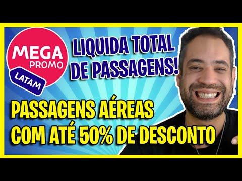 LIQUIDA TOTAL LATAM! PASSAGENS AÉREAS LATAM COM ATÉ 50% DE DESCONTO HOJE!