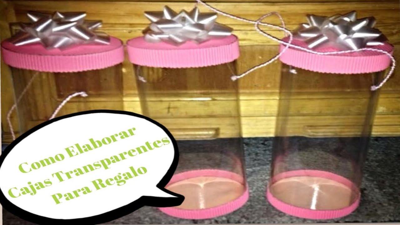 Como hacer cajas transparentes para regalo youtube for Cajas de plastico transparente
