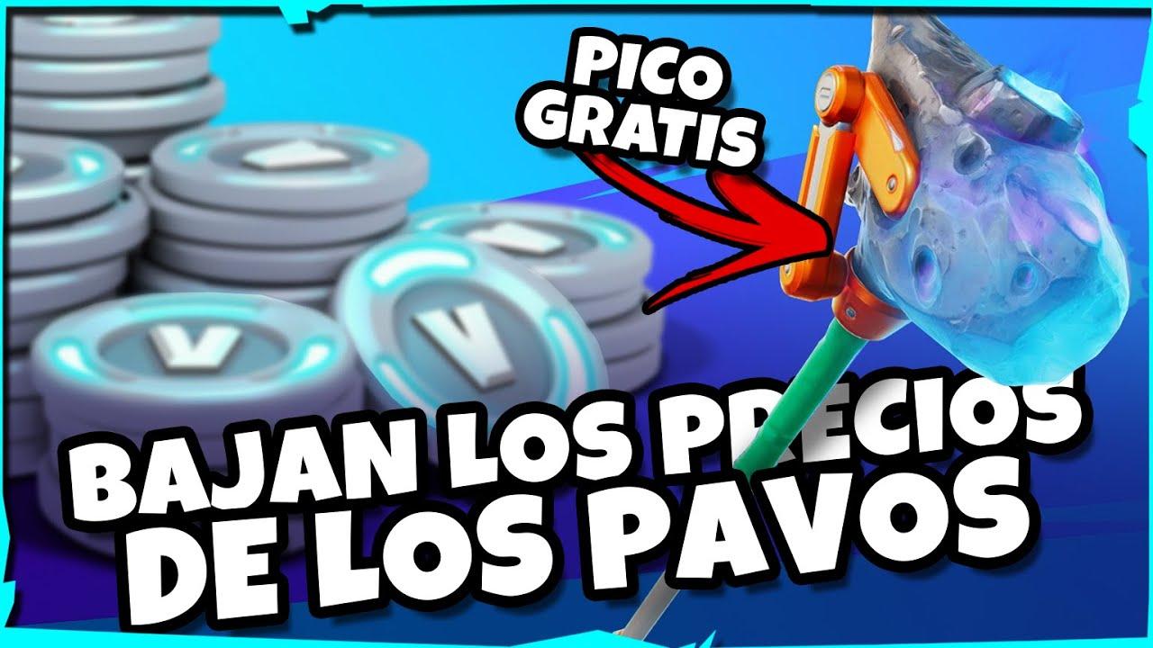 *NUEVO PICO GRATIS* |⛏️| rebajan EL PRECIO de LOS PAVOS en FORTNITE // ¿¿epic games esta asustado??