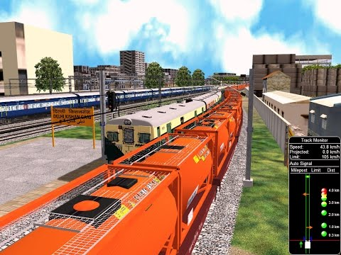 64911 New Delhi/NDLS To Rohtak/ROK Memu Train From NDLS    IR In MSTS Open Rail