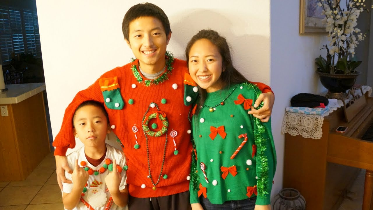 diy ugly christmas sweaters youtube - Homemade Ugly Christmas Sweater