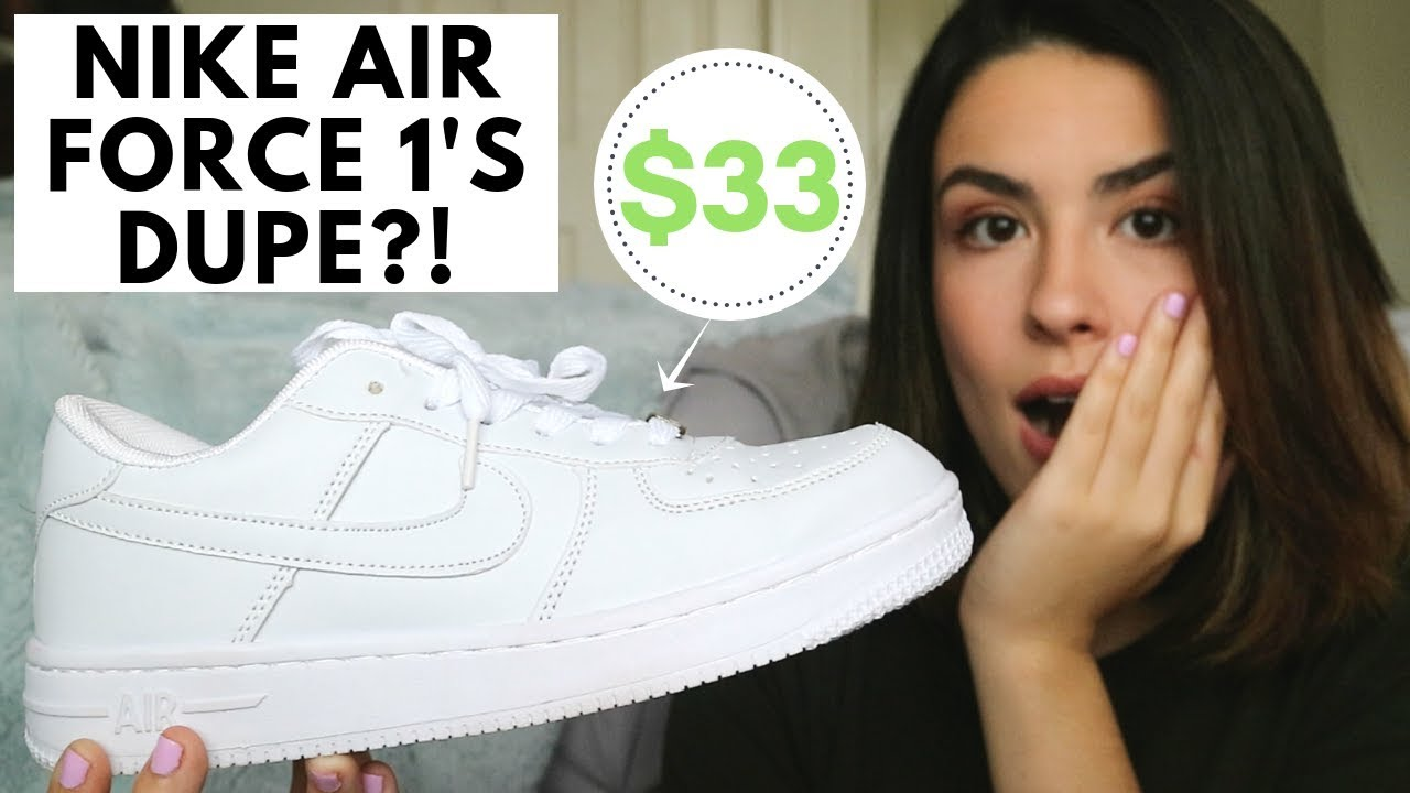 UHHH I FOUND A NIKE AIR FORCE 1'S DUPE??!