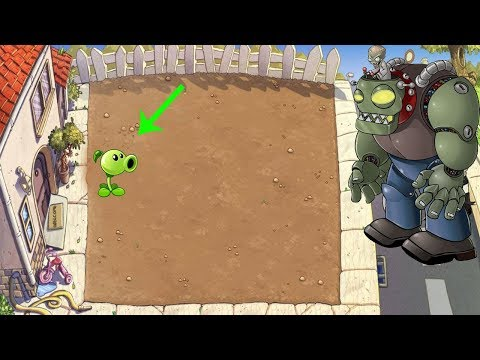 1 PeaShooter vs Gargantuar vs Giga-Gargantuar Hack Plants vs Zombies