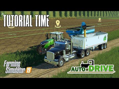 Autodrive Tutorial - Combine Offload And Courseplay Integration - Farming Simulator 19
