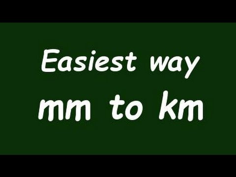 Wow Convert Mm To Km Milimeter To Kilometer With Example