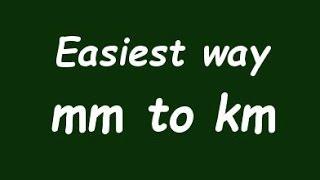 ✅ Km kilometre için ( milimeter) örnekle mm dönüştürme