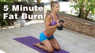 5 Minute Fat Burning Workout #125