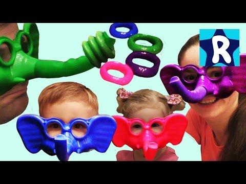 ★ Игры для Детей ГОНКИ СЛОНОВ Распаковка Рома Шоу game unboxing and play ROMA SHOW