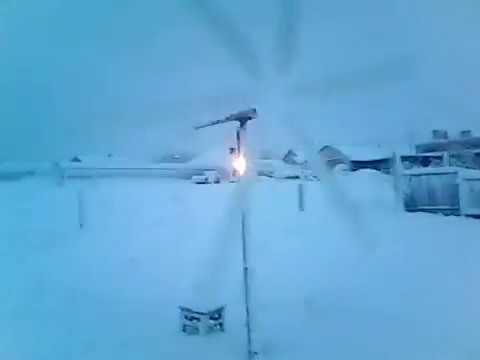 Работа ветрогенератора при скорости ветра 3 м/с