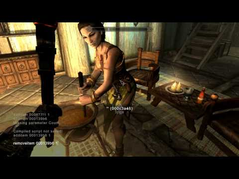 Skyrim: How to PERMANENTLY Change Sylgja's (or any spouse) Clothes and Remove Pickaxe