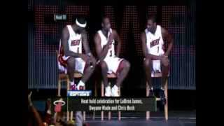 Miami Heat 2010 Lebron James,Chris Bosh,Dwayne Wade and Carlos Arroyo.