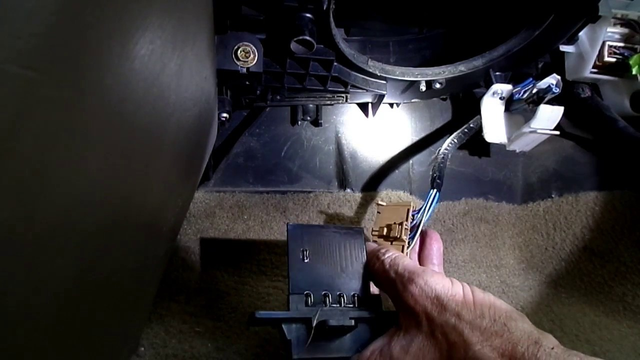 Nissan Sentra Blower Motor Resistor Replacement Youtube