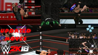 WWE 2K18 PPSSPP V1.77 (UPDATED MOVES BY CONNOR CJ)