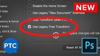 ⚠ PHOTOSHOP UPDATE: New Check Box Brings Back SHIFT KEY for Proportional Transform! thumbnail