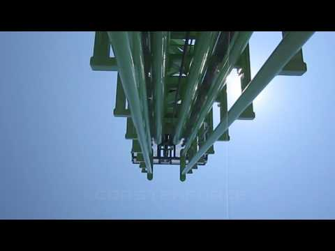 Goliath Front Seat on-ride HD POV Six Flags New England