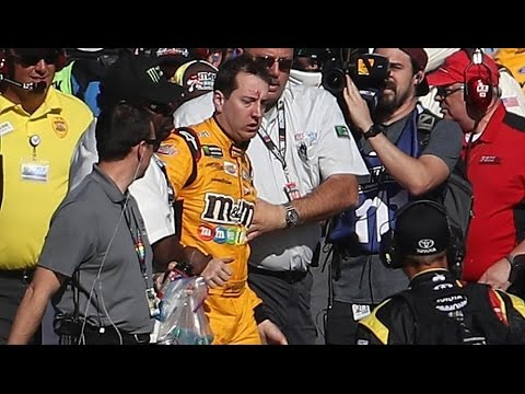 Up-close view of Busch-Logano fight